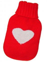 Meia vermelha para botija para aquecer os pés