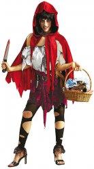 Disfarce capucinho vermelho zombie mulher Halloween