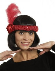 Bandolete Charlestone vermelha mulher