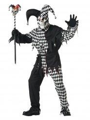 Disfarce Palhaço Arlequim Halloween homem