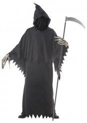 Disfarce Senhor da morte preto homem Halloween