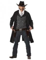 Disfarce cowboy homem Santa Maria preto