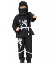 Disfarce ninja criança branco e preto