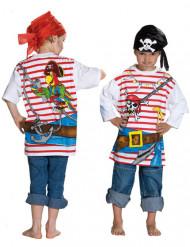 T-shirt pirata criança