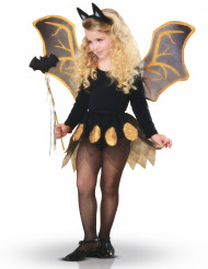 Kit morcego preto e dourado menina