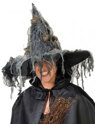 Chapéu de bruxa com ratos mulher