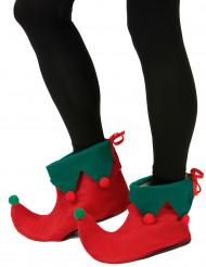 Cobre sapatos elfo com pompons adulto