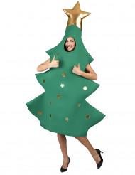 Disfarce pinheiro de Natal 3D adulto