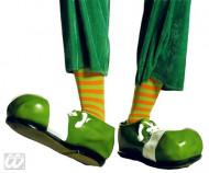 Par de meias às riscas palhaço verde e cor de laranja