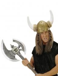 Machado de viking prateado