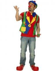 Colete de palhaço colorido homem