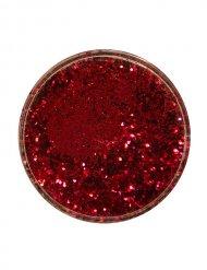 Pó de purpurinas cor vermelha