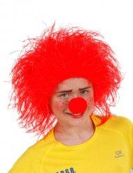 Peruca palhaço criança vermelho