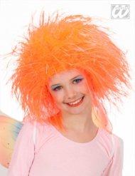 Peruca rainha das fadas cor de laranja menina