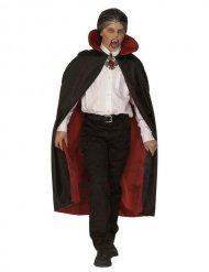 Capa de vampiro criança vermelha e preta