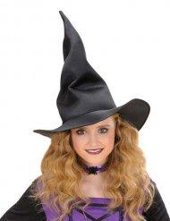 Chapéu de bruxa preto flexível criança