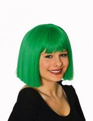 Peruca verde mulher