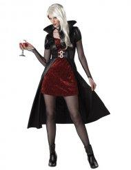 Disfarce vampira mulher vermelha Halloween