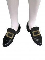 Fivela de sapatos dourada
