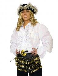 Camisa pirata branca - adulto