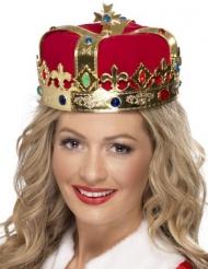 Coroa de rainha com pedras falsas adulto