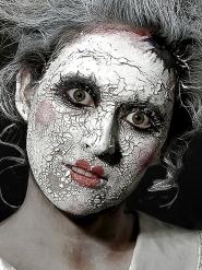 Maquilhagem cicatriz pele branco