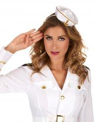 Bandolete chapéu mini marinheiro branco mulher