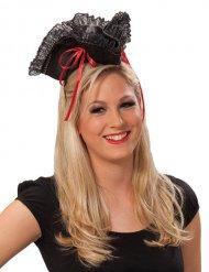 Chapéu de pirata vermelho e preto - mulher!