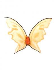 Asas de fada borboleta cor de laranja adulto