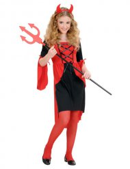 Disfarce diabinha dos infernos menina Halloween