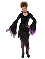 Disfarce vampira lilás menina