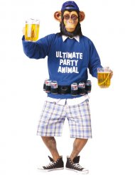 Disfarce Ultimate Party Animal macaco com cinto de cerveja