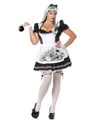Disfarce Alice pérfida Halloween mulher tamanho grande