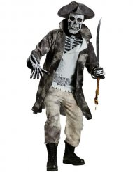 Disfarce pirata fantasma Halloween homem