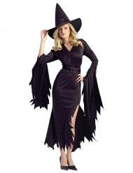 Disfarce bruxa preta mulher Halloween