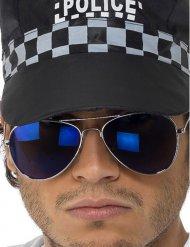 Óculos de polícia azuis adulto