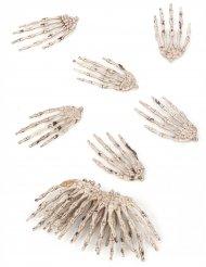 Lote de 12 mãos de esqueleto Halloween