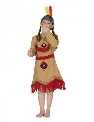 Disfarce índia menina bege e vermelho