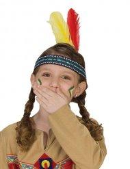 Bandolete índia com penas criança
