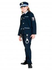 Disfarce polícia azul menino