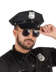 Boné polícia preto