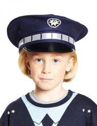 Boné de polícia azul