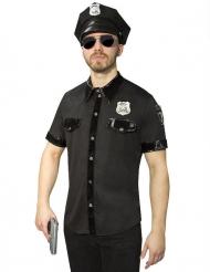 Disfarce camisa de polícia homem