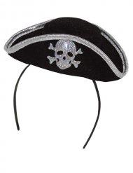 Tiara mini chapéu de pirata!