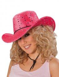 Chapéu cowgirl cor-de-rosa