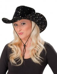 Chapéu cowgirl preto