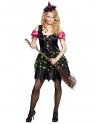 Disfarce de bruxa mulher para Halloween