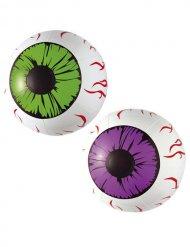 Olhos insufláveis Halloween brancos