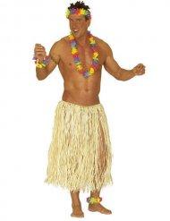 Saia havaiana natural para adulto