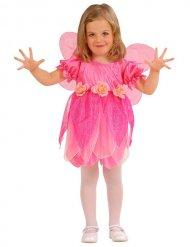 Disfarce fada das flores cor-de-rosa menina